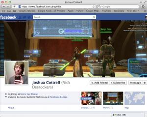 Screenshot of his facebook profile